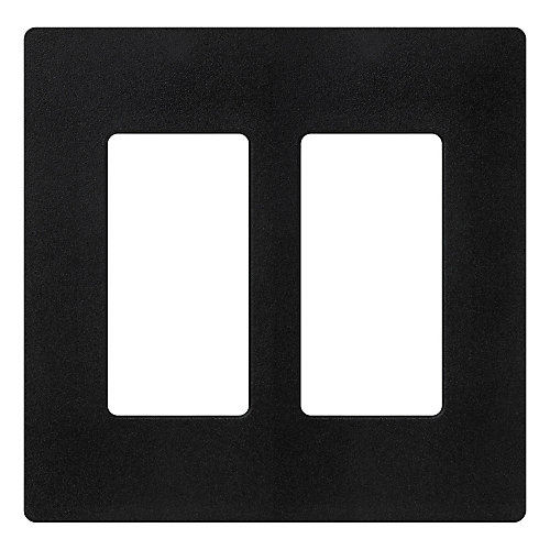Claro 2 Gang wall plate, Midnight