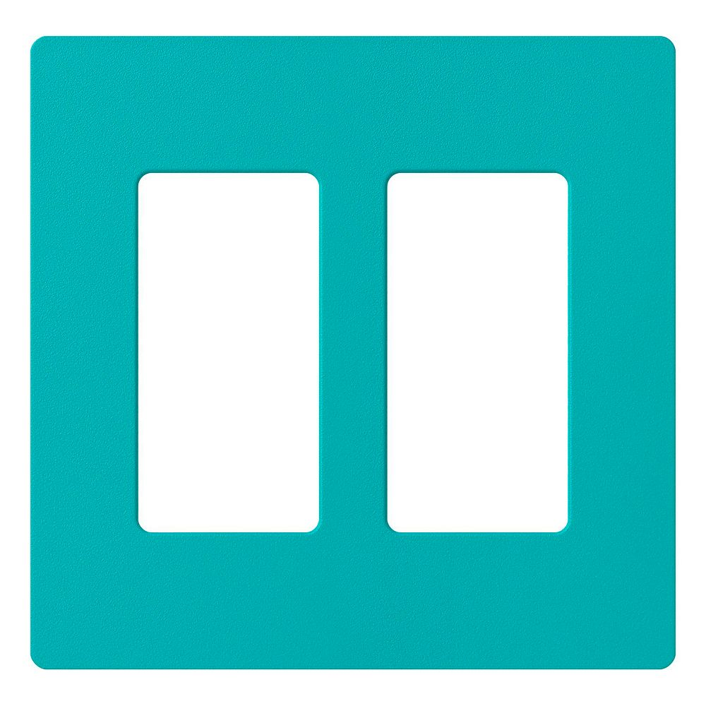 Lutron Plaque murale double Claro 2-Gangs, Turquoise