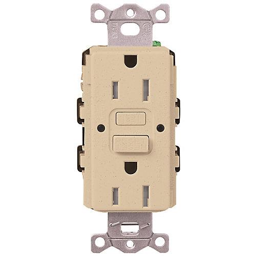 Claro 15-Amp Tamper-Resistant GFCI Duplex Receptacle, Desert Stone