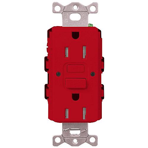 Claro 15-Amp Tamper-Resistant GFCI Duplex Receptacle, Hot