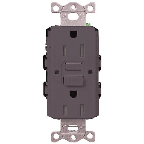 Claro 15-Amp Tamper-Resistant GFCI Duplex Receptacle, Plum