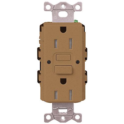 Claro 15-Amp Tamper-Resistant GFCI Duplex Receptacle, Terracotta