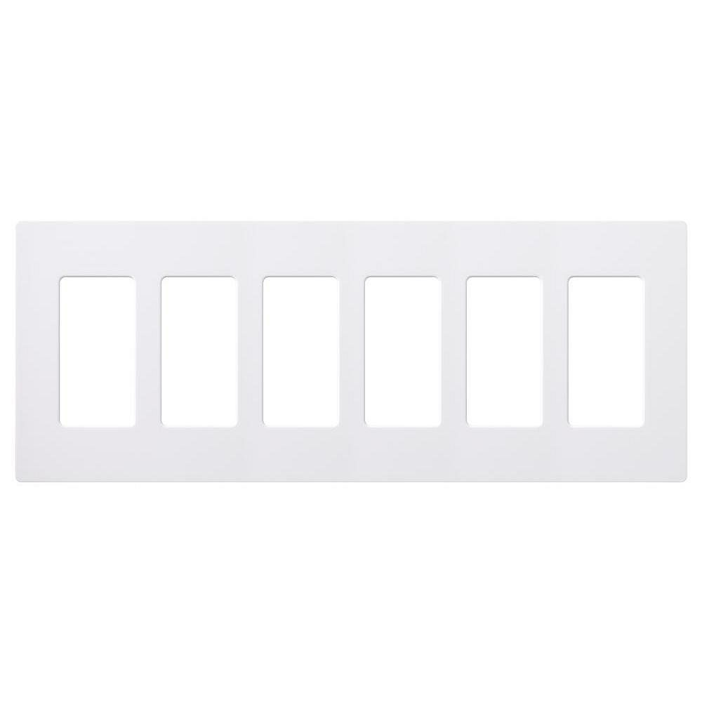 Lutron Claro 6 Gang Decorator Rocker Wallplate Gloss White 1 Pack The Home Depot Canada