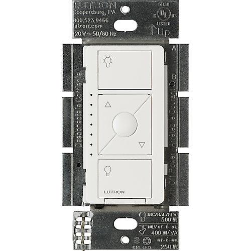 Gradateur interrupteurintelligent Caseta pour ELV + ampoules, blanc