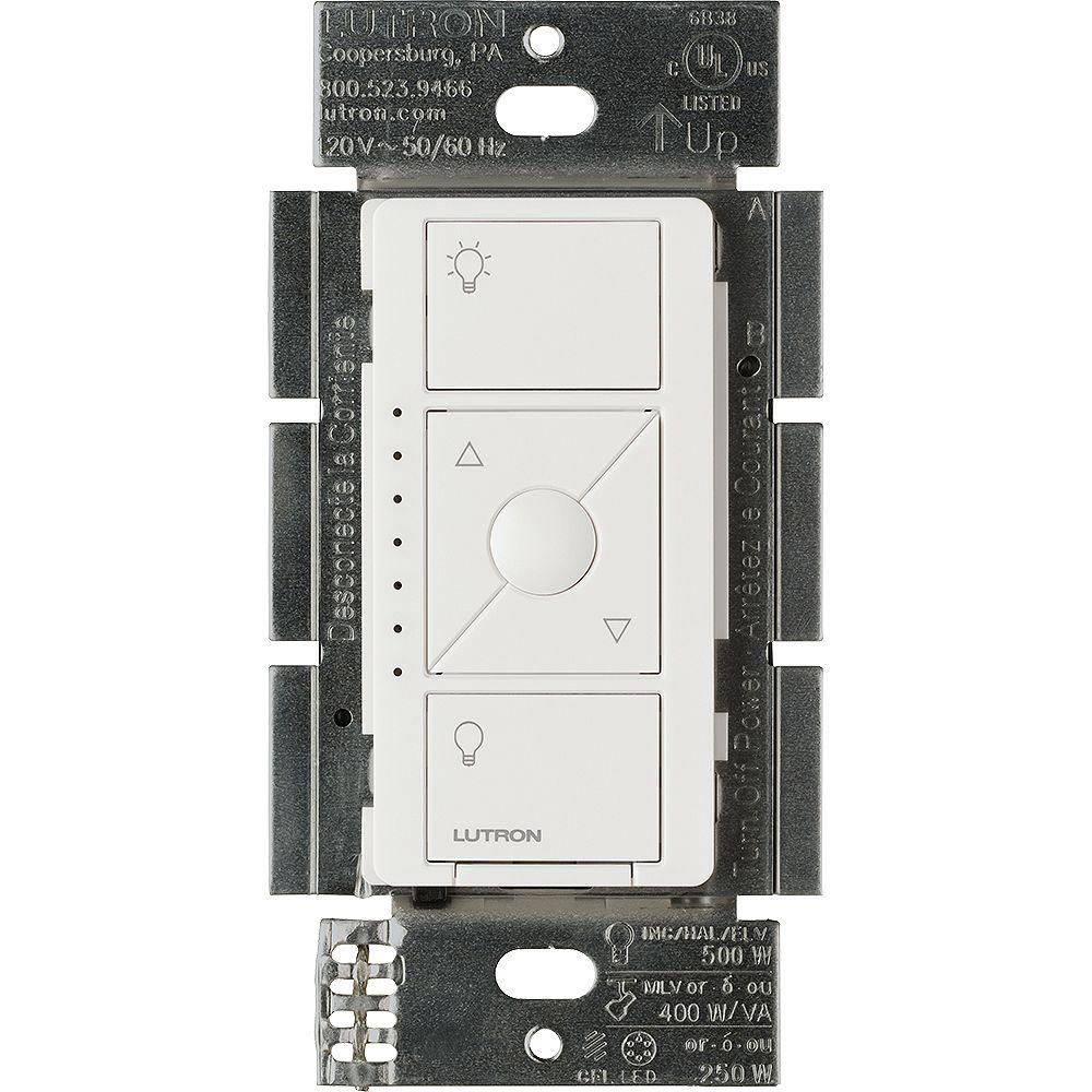 Lutron Caseta Wireless Smart Lighting Dimmer Switch for ELV+ Bulbs, White