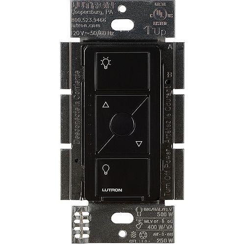 Caseta Wireless Smart Lighting Dimmer Switch for ELV+ Bulbs, Black