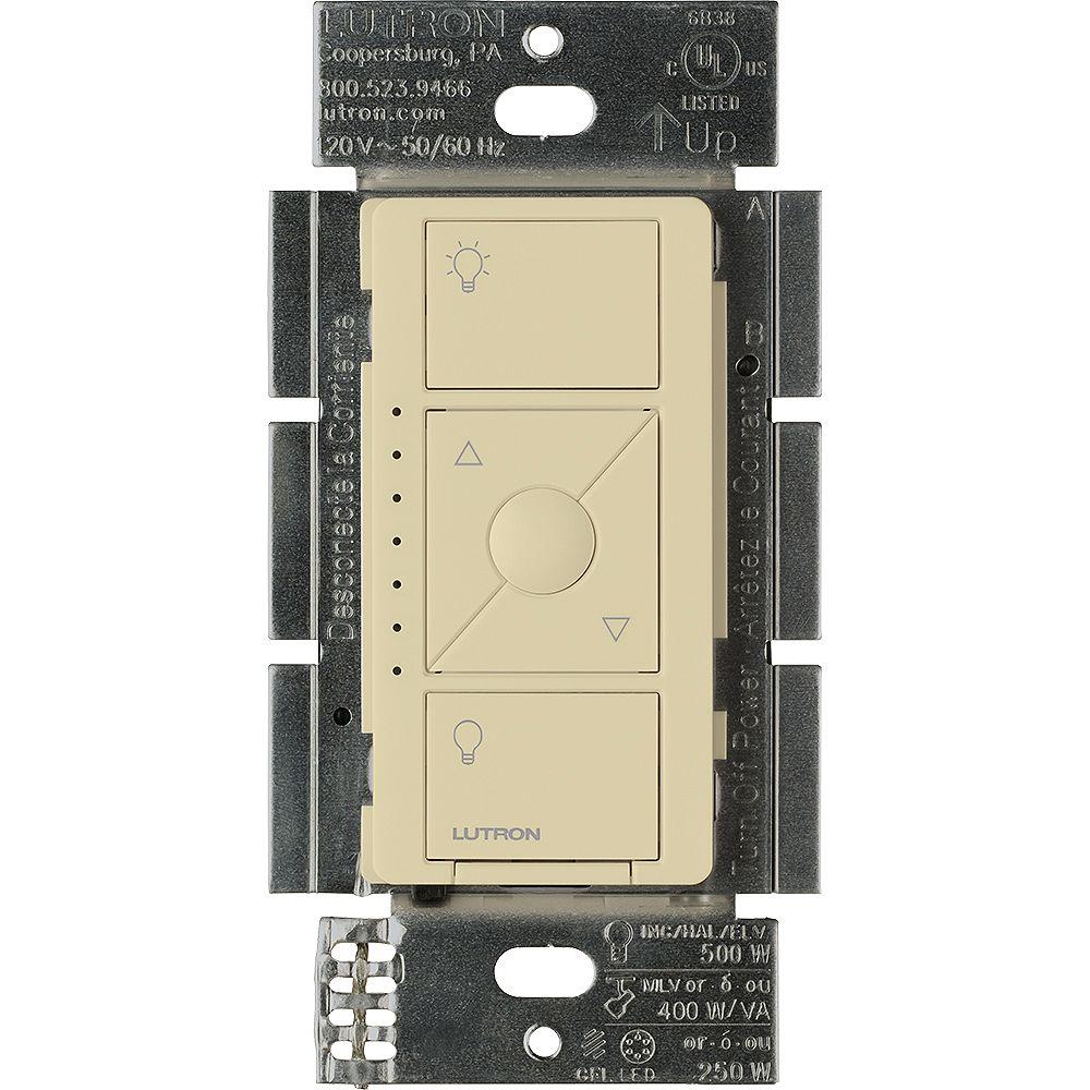 Lutron Gradateur interrupteur intelligent Caseta pour ELV + ampoules, en ivoire