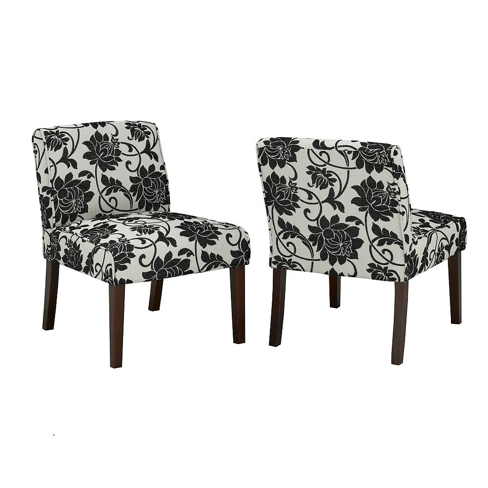 Brassex Inc. Accent Chair, Blue/Cream