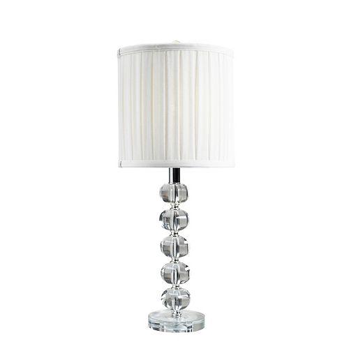 Lampe de table Brassex 24 po en cristal
