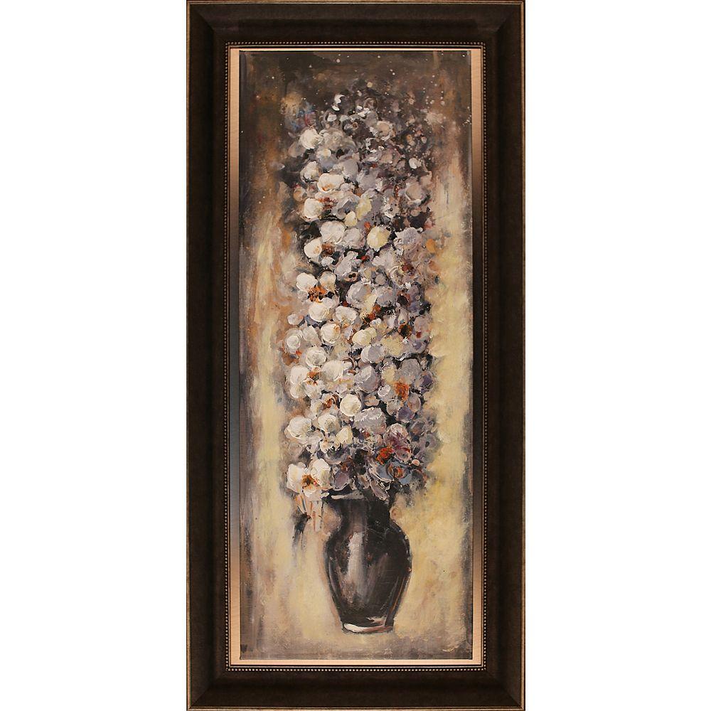 Art Maison Canada Enveloppé de floral Pot sur que je par O. Tina encadré peinture originale toile