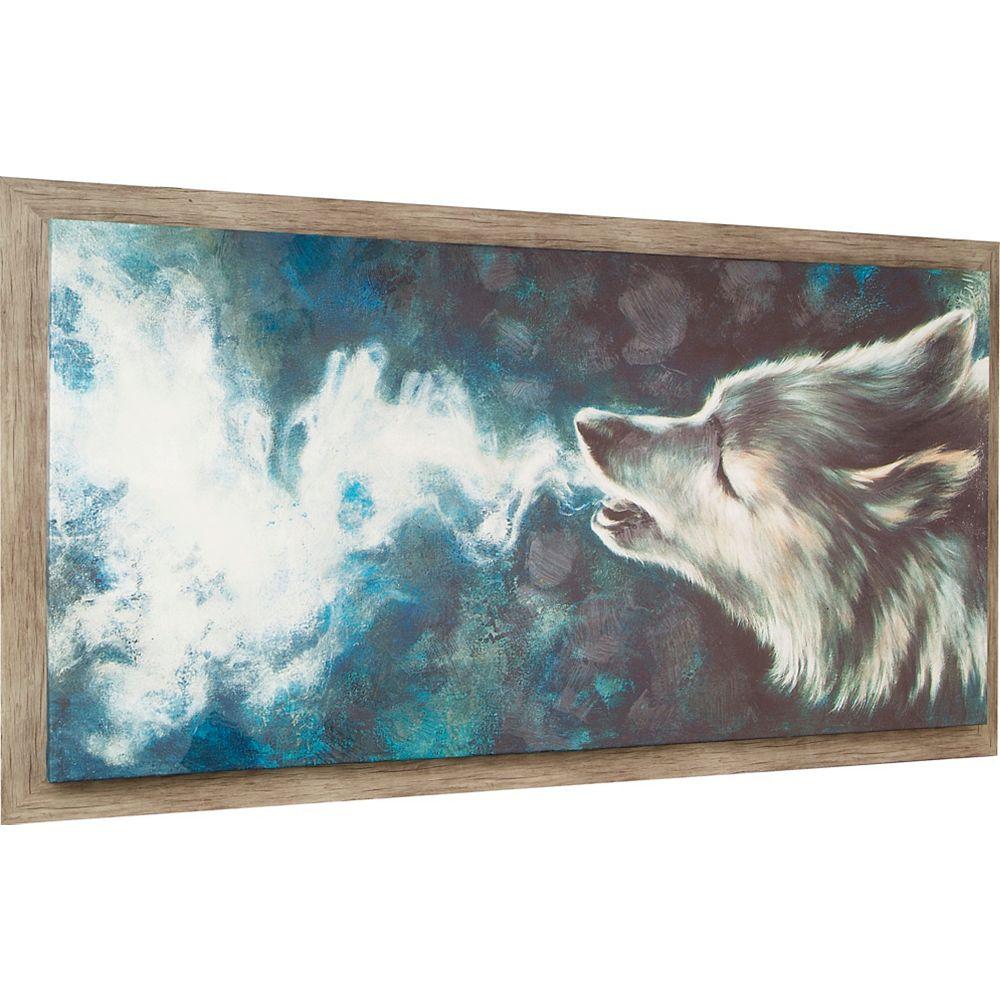 Art Maison Canada Wolf par Lori Dell encadré peinture impression sur toile enveloppé