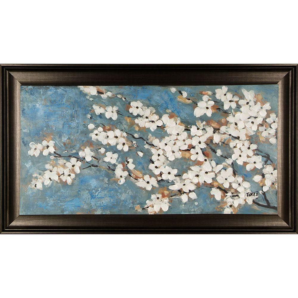 Art Maison Canada Fleur de printemps je par O. Tina encadré peinture originale