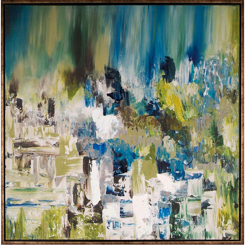 Art Maison Canada Étang de lété je par Sanjay B Patel de peinture encadrée