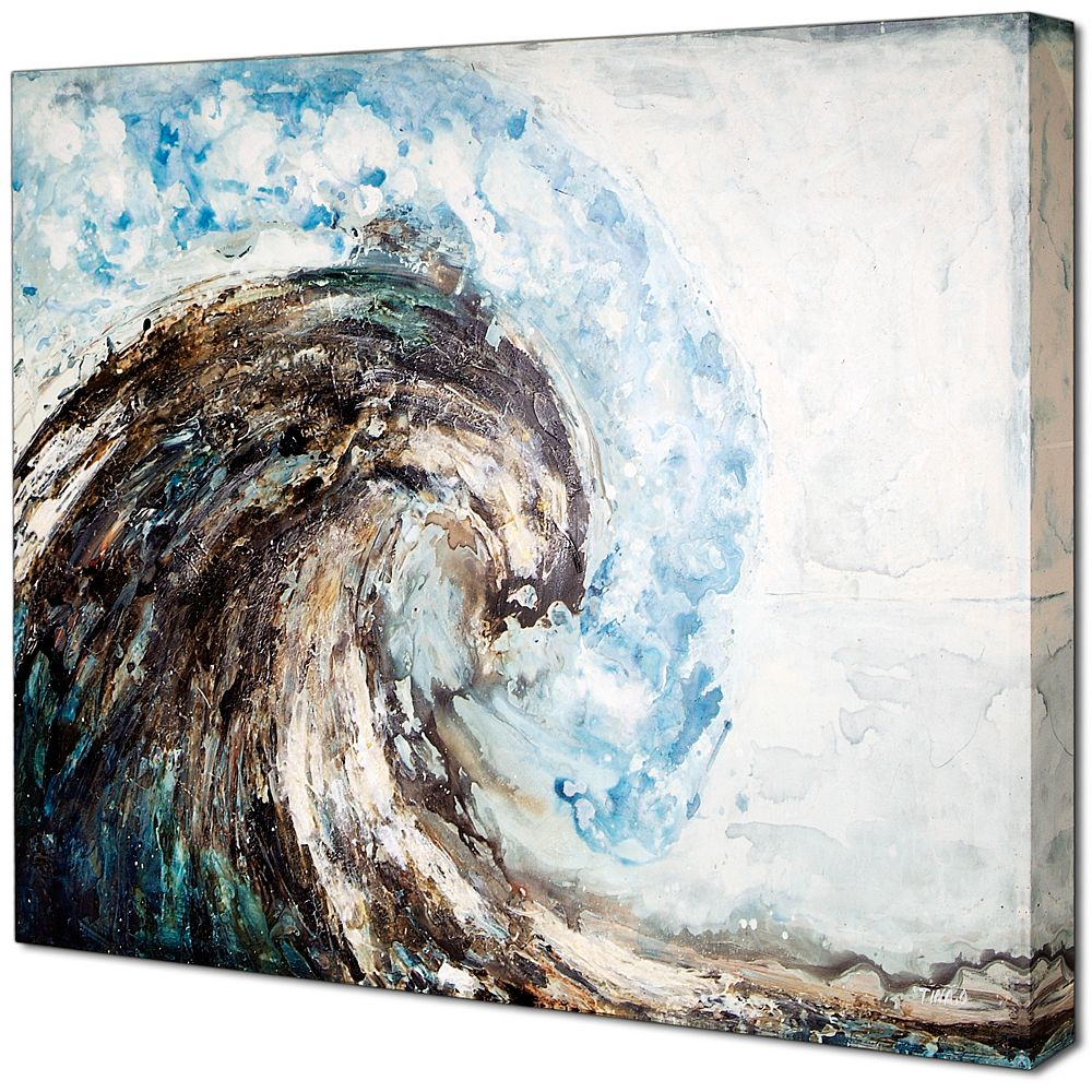Art Maison Canada High Wave by Tina O. Original Painting on Wrapped Canvas