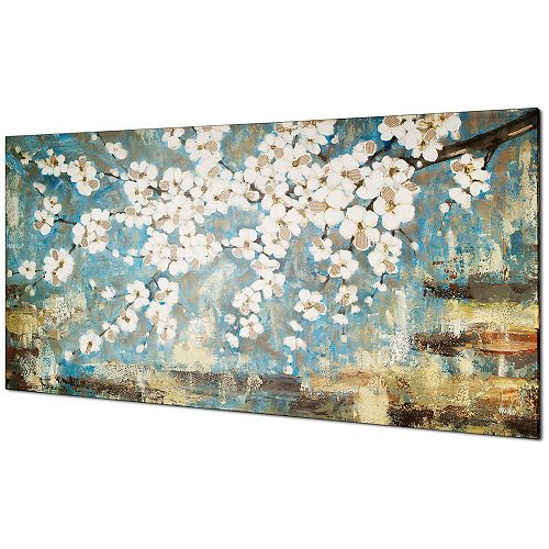 Blue Blossom by Tina O. Painting on Wrapped Canvas