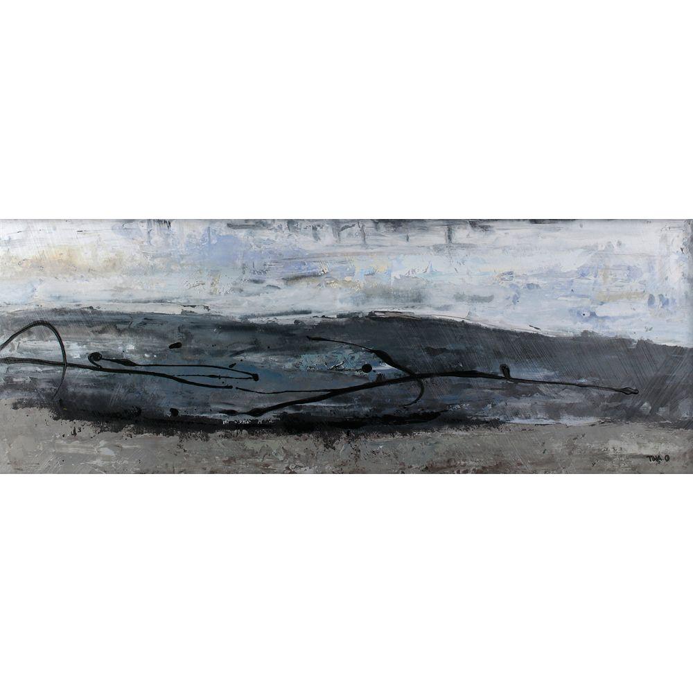 Art Maison Canada Résumés gris Tina O. Painting impression sur toile enveloppé