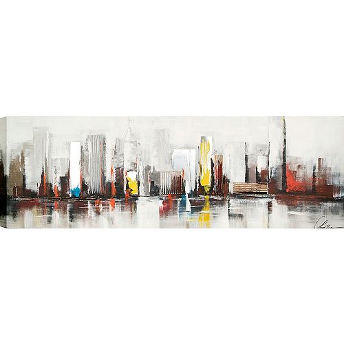 City by Claudia Original Painting on Wrapped Canvas