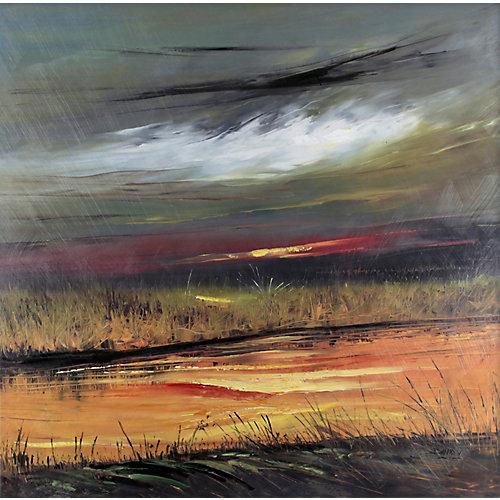 Terres de marais par David V. Painting impression sur toile enveloppé