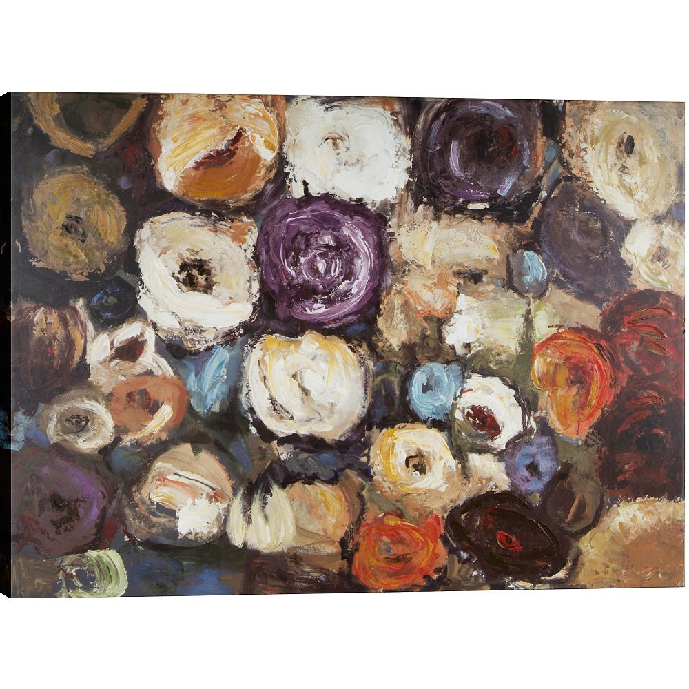 Art Maison Canada Color Blossoms by Tina O. Original Painting on Wrapped Canvas