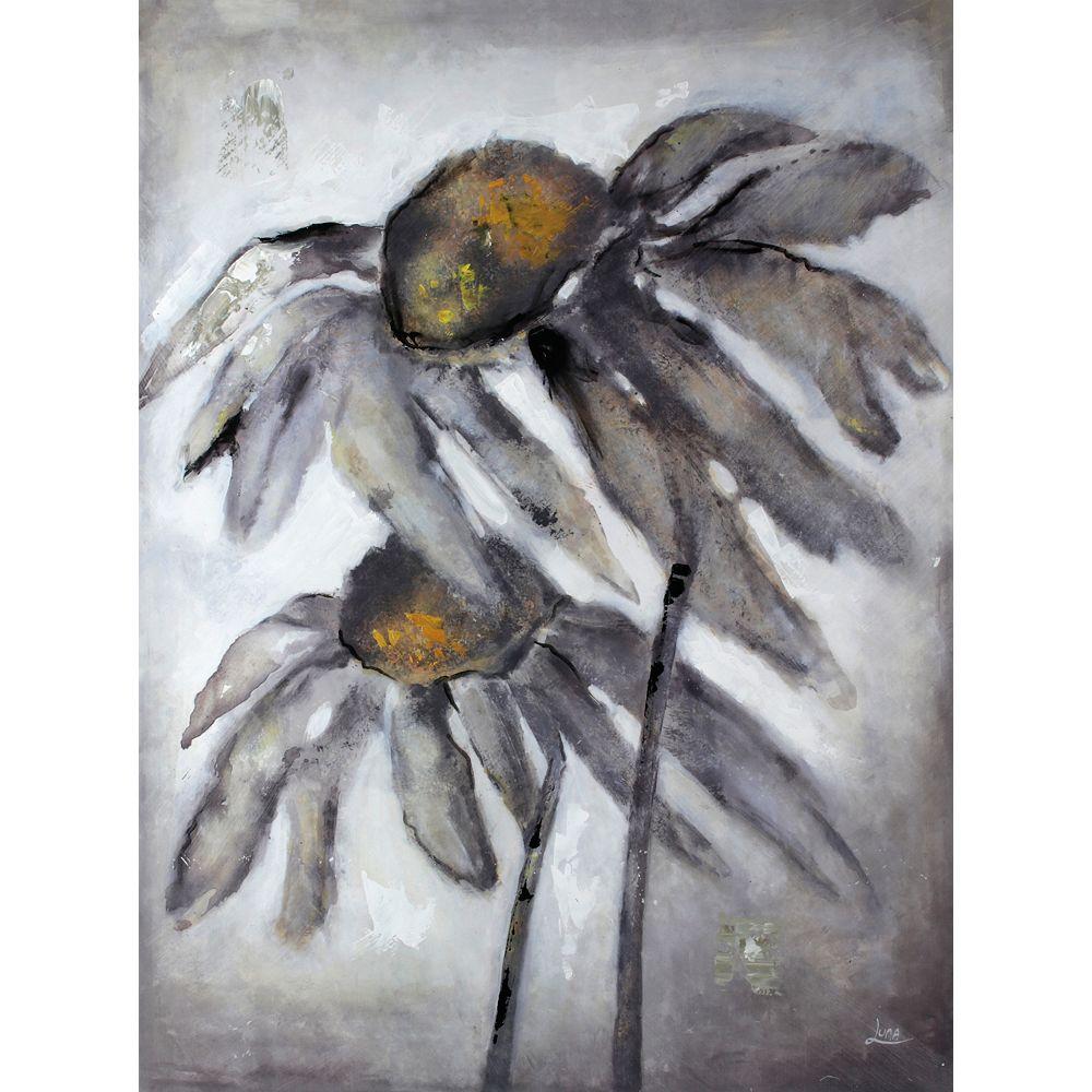 Art Maison Canada Fleur du soleil par Luna M. peinture impression sur toile enveloppé