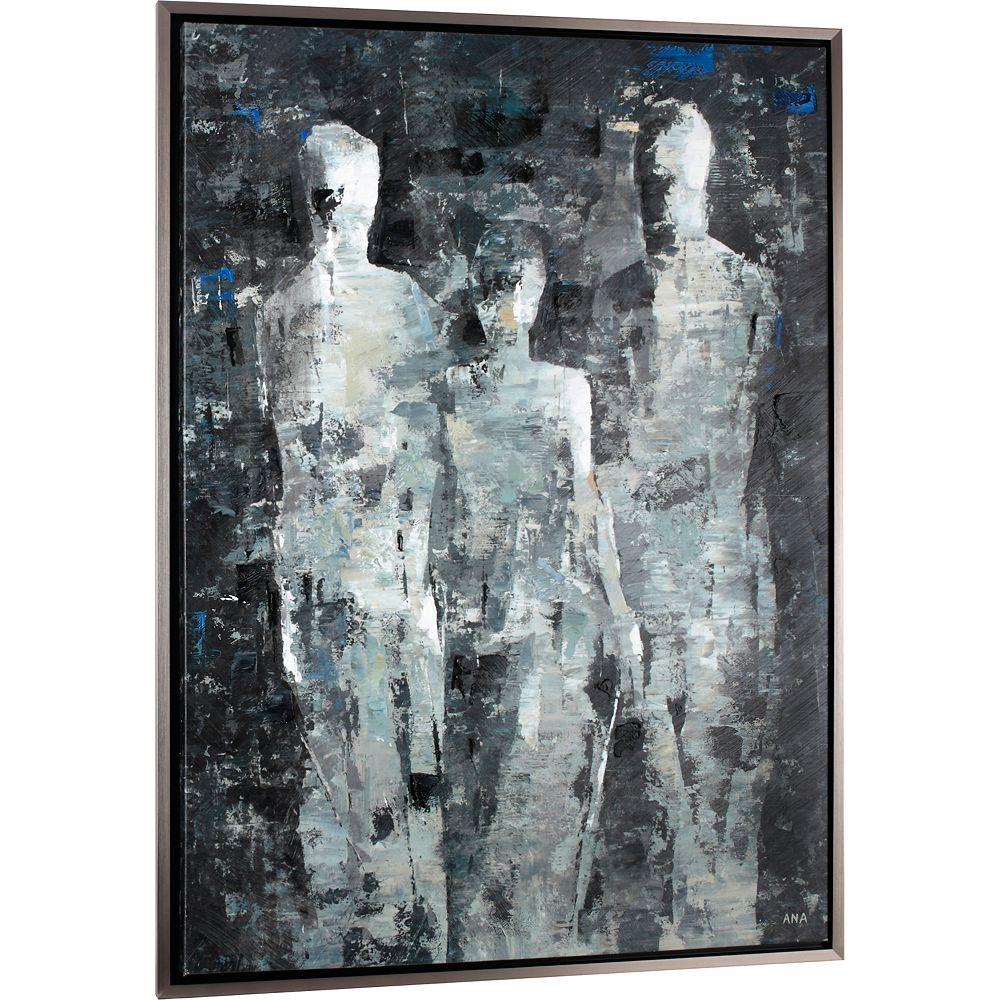 Art Maison Canada Hommes de lombre par C. Anastasia encadré peinture impression sur toile enveloppé