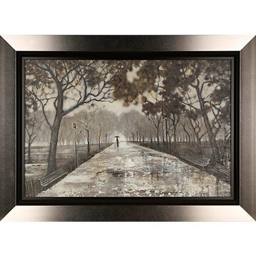 Promenade dans le parc par Tina O. encadré peinture impression