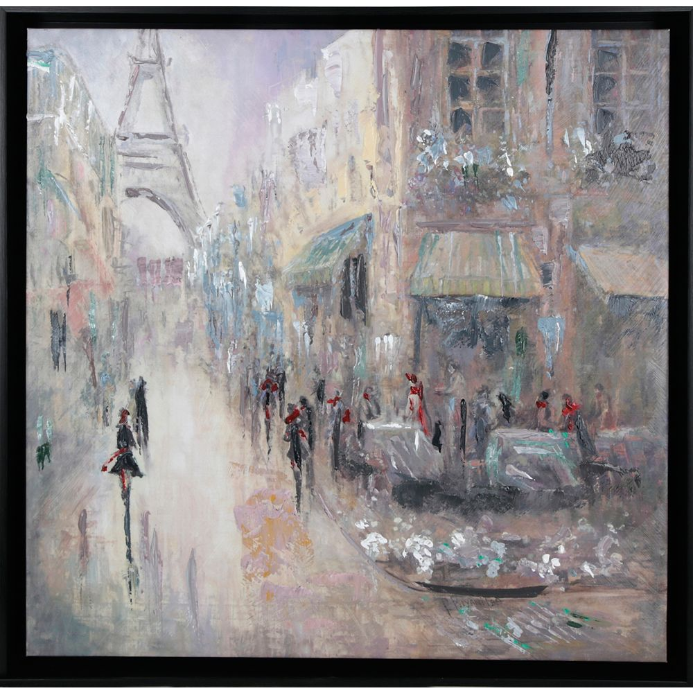 Art Maison Canada Paris Pathway by Peter Kyjanista Framed Painting Print on Wrapped Canvas