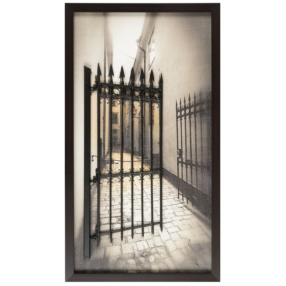 Art Maison Canada Art and Metal Fenceby P.T. Turk Framed Photographic Print on Wrapped Canvas