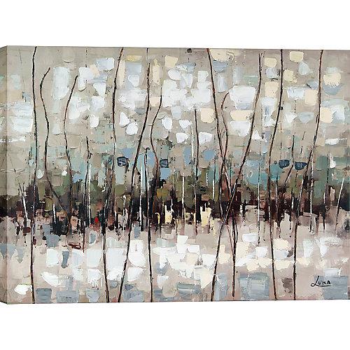 """30» H x 40"""" W prêt à accrocher, peint à la main «abstrait» par Art de mur de toile de M. Luna"""