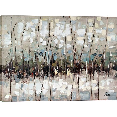 "30"" H x 40"" W Ready to Hang, Hand Painted 'Abstract"" by Luna M. Canvas Wall Art"