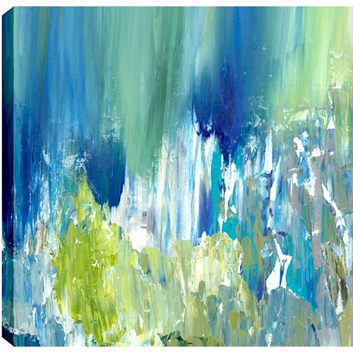Bright Pond I Abstract, Gallary Wrapped Canvas Wall Art 24X24