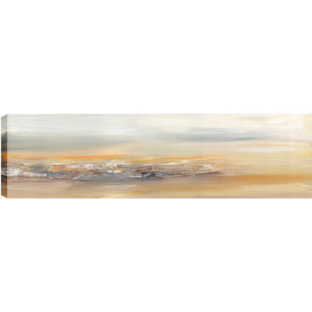 Art Maison Canada Distant Abstract, Gallary Wrapped Canvas Wall Art 20X60