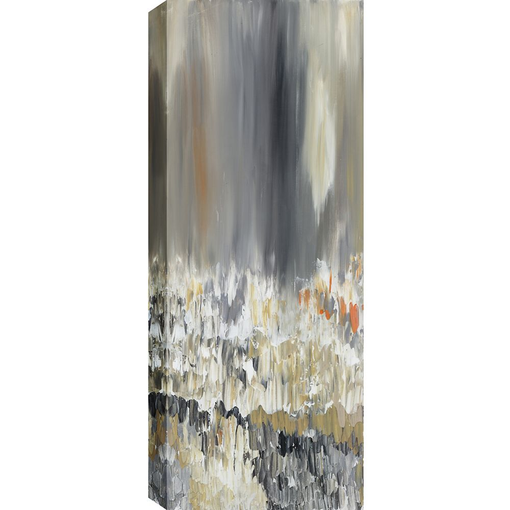 Art Maison Canada Narrow Reflections Abstract, Gallary Wrapped Canvas Wall Art 20X60