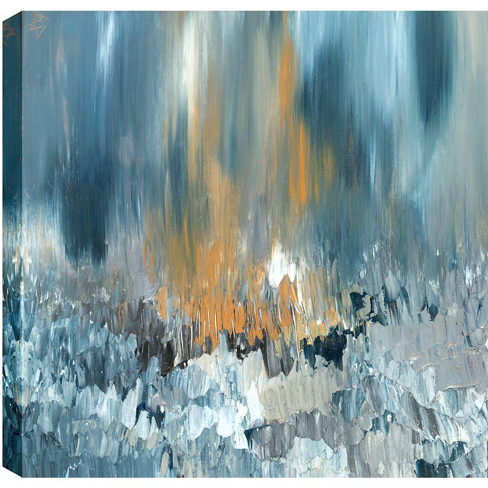Art Maison Canada Résumé d'eau rocheux, Gallary enveloppé Art mur de toile 24 X 24