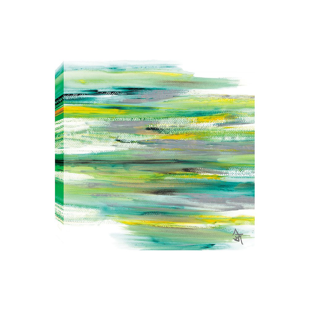 Art Maison Canada Green View Abstract, Gallary Wrapped Canvas Wall Art 24X24