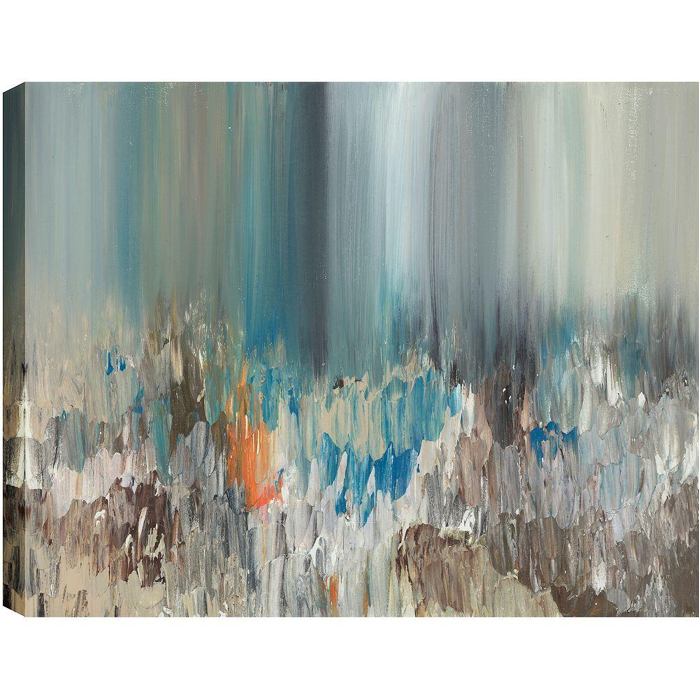 Art Maison Canada Dark Pond Reflections, Gallary Wrapped Canvas Wall Art 24X48