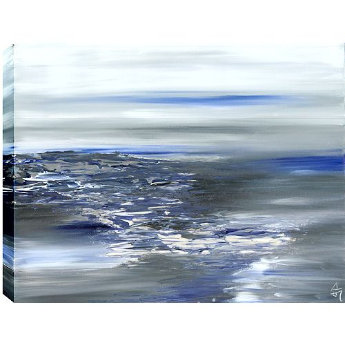 Cloudy I Abstract, Gallary Wrapped Canvas Wall Art 30X40