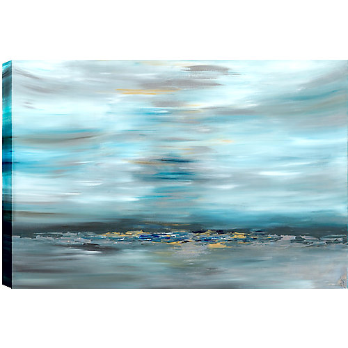 Distant Rocks Abstract, Gallary Wrapped Canvas Wall Art 30X40