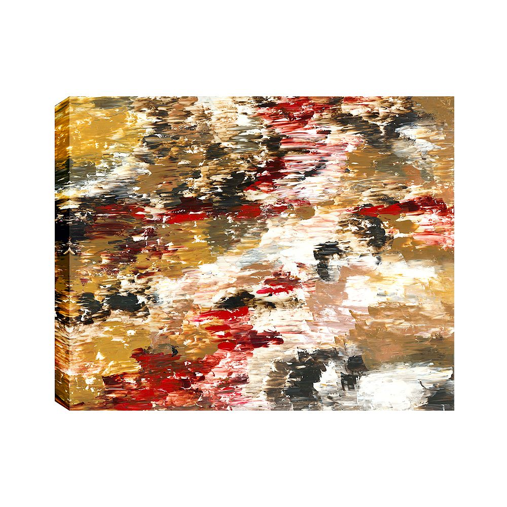Art Maison Canada Red Forest I Abstract, Gallary Wrapped Canvas Wall Art 30X40