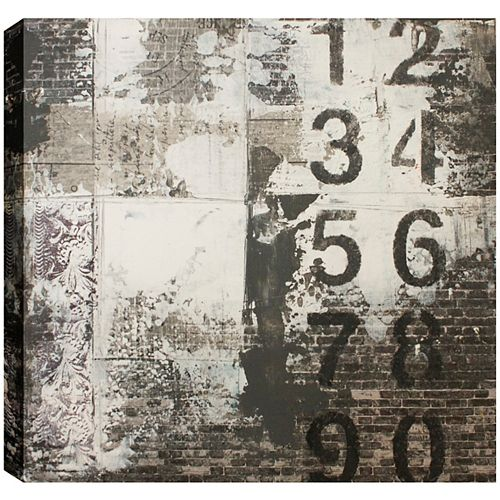 Vertical Numbers, Canvas Print Wall Art 24X24