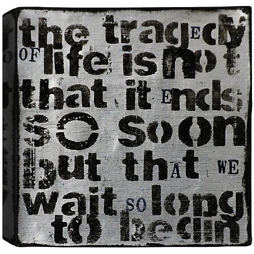 Tragédie de la vie, résumé, toile imprimer sticker 24 X 24