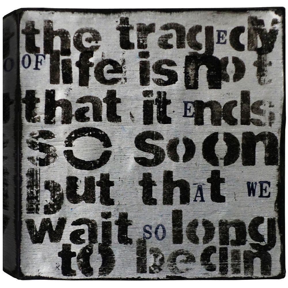 Art Maison Canada Tragédie de la vie, résumé, toile imprimer sticker 24 X 24