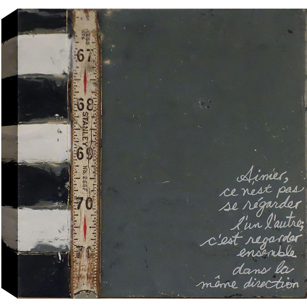 Art Maison Canada Mots, abstrait, toile imprimer sticker 24 X 24