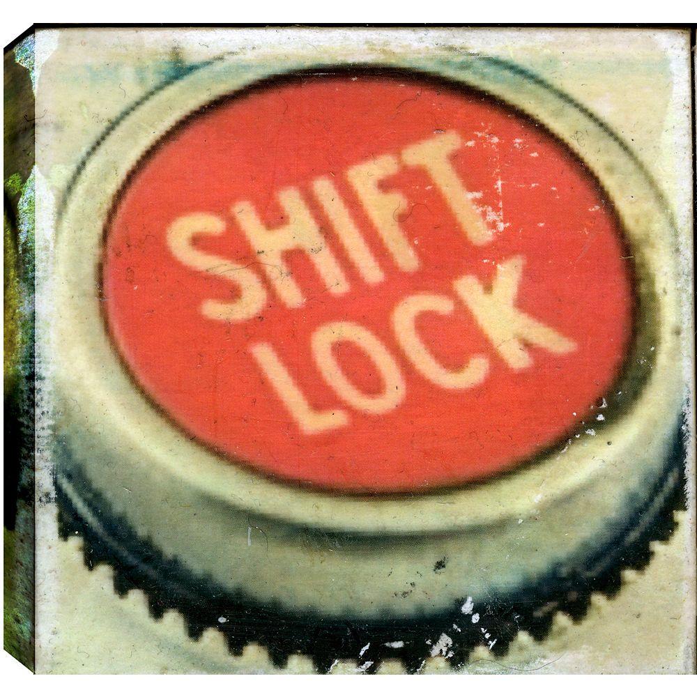 Art Maison Canada Shift Lock, sticker abstrait, Gallary enveloppé toile 24 X 24