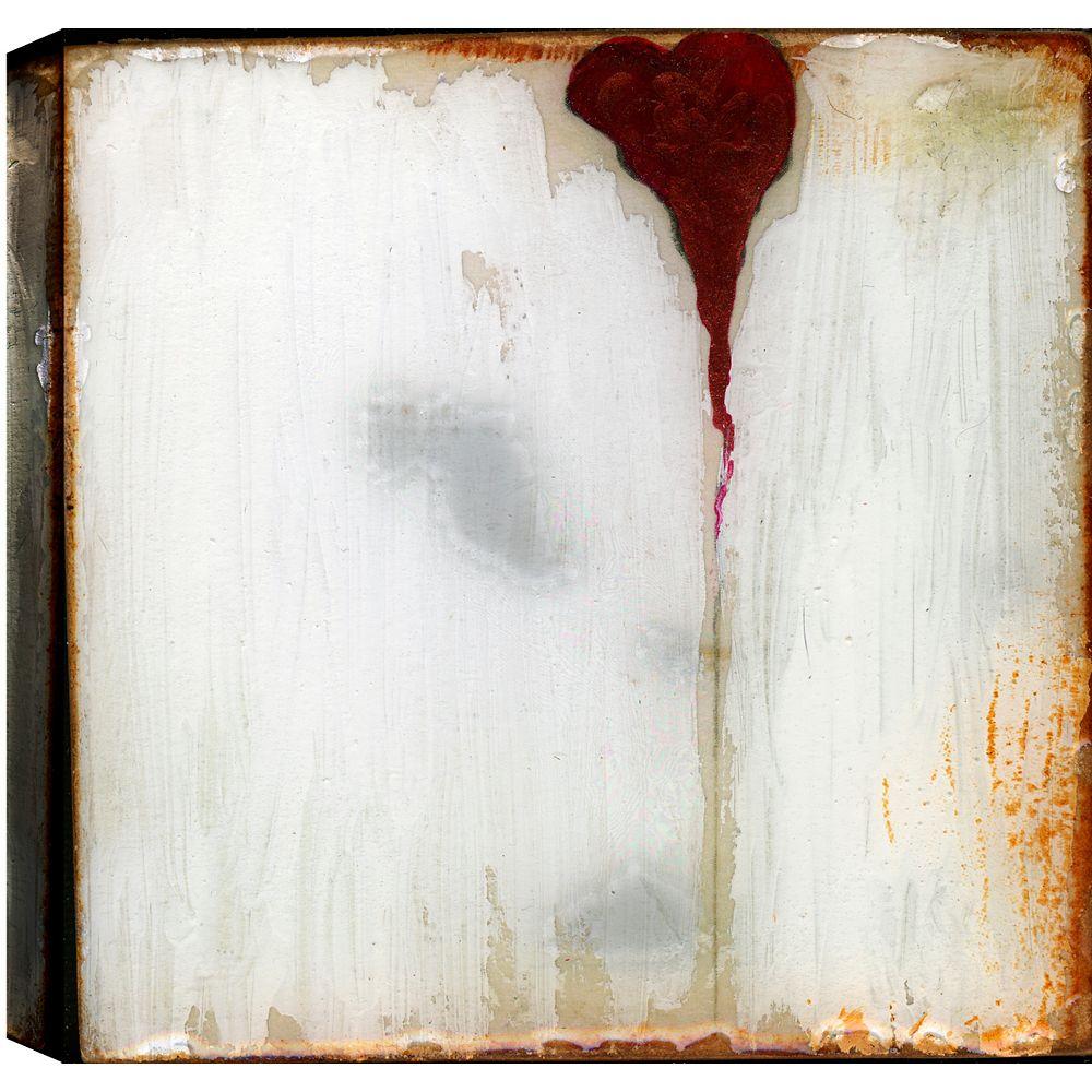 Art Maison Canada Heart, Abstract, Gallary Wrapped Canvas Wall Art 24X24