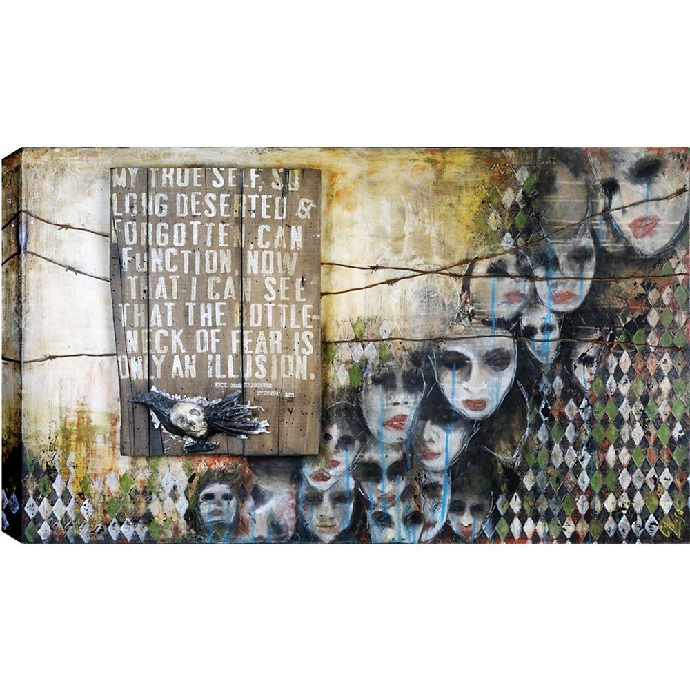 Art Maison Canada Le goulot de la peur, toile impression sticker 34 X 46