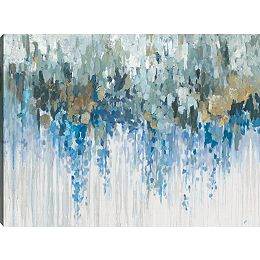 Visuels bleus, toile enveloppé abstrait, Gallary Wall Art 30 X 40