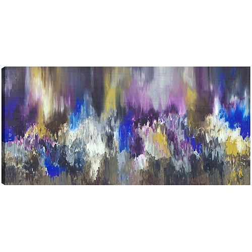 Exotic Purple, Abstract, Gallary Wrapped Canvas Wall Art 30X60