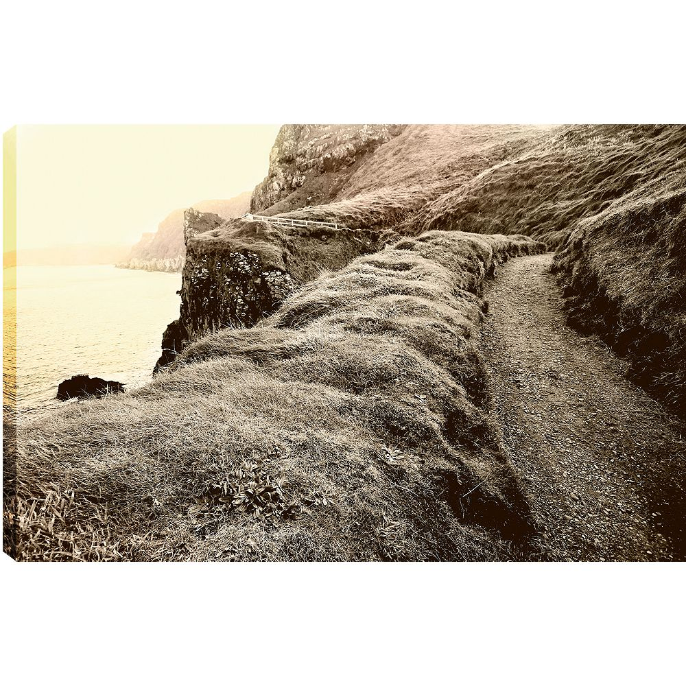 Art Maison Canada Chemin d'accès sur le rocher ' épreuve photographique sur toile enveloppé