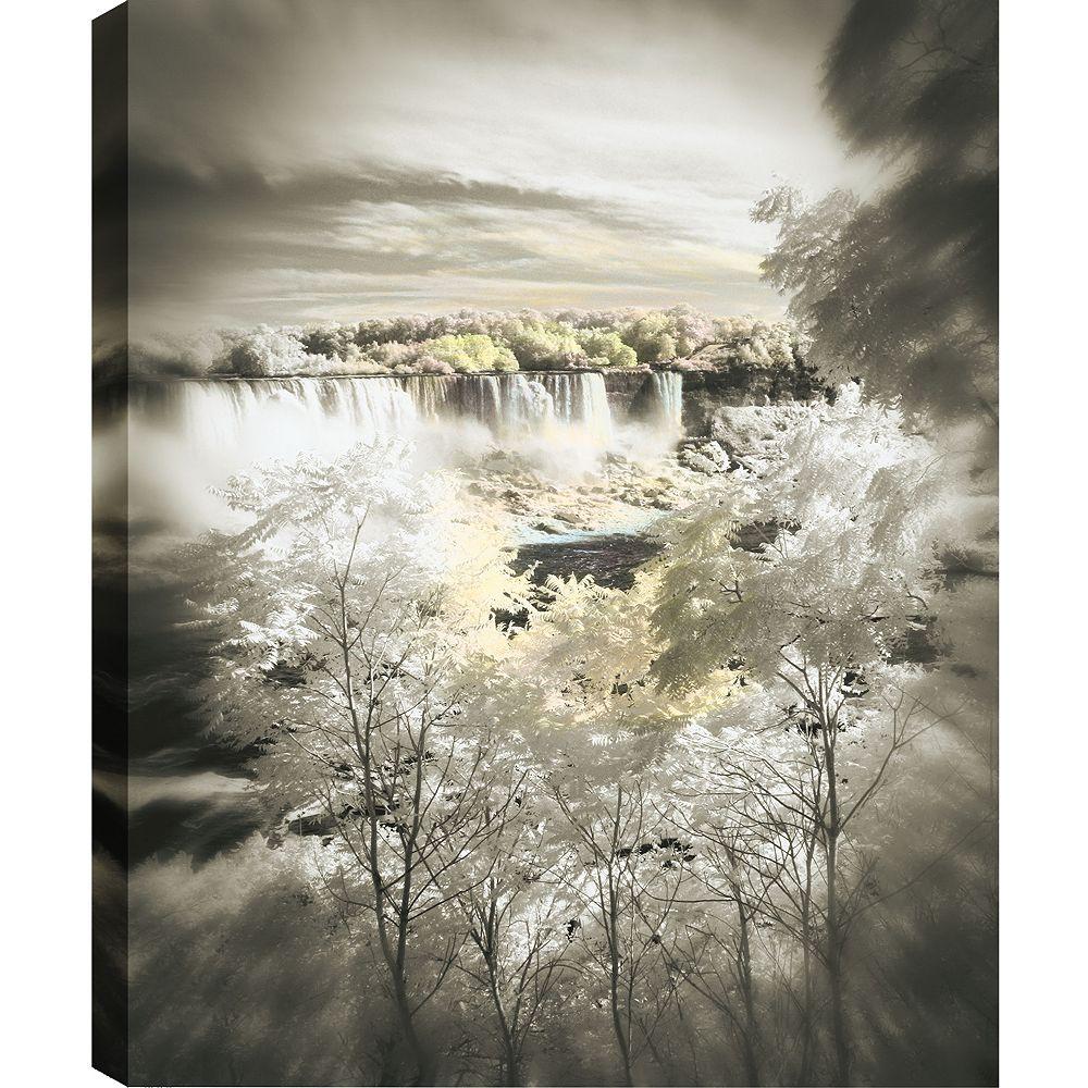 Art Maison Canada Enveloppé de vue entre tirage photographique les arbres sur toile